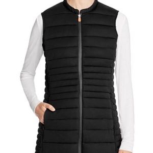 EUC Save The Duck Puffer Packable Long Vest 1S Blk